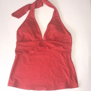 Orange Land's End Tankini Top Size 2